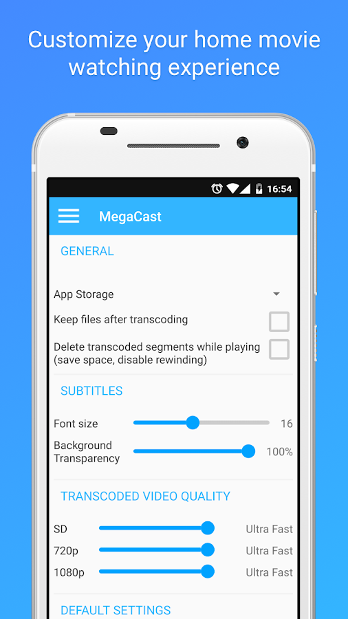 MegaCast - Chromecast player Screenshot 4