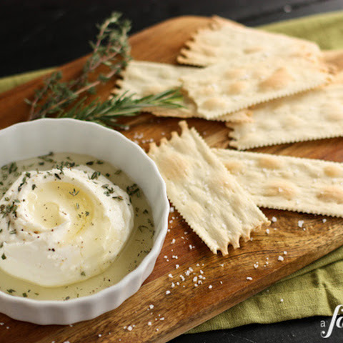 Creamy Homemade Ricotta with Honey and Herbs