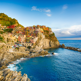 Italy by Sheldon Anderson - Buildings & Architecture Architectural Detail ( cinque terre, village, 2015, fishing, italy )
