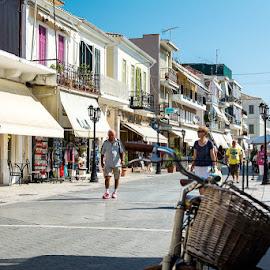 Lefkada town by Andreea Diana Furnea - City,  Street & Park  Neighborhoods ( greece, city travel, buildings, lefkada )