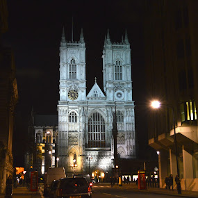 Westminster Abbey by Emilie Robert - Buildings & Architecture Public & Historical ( building, abbey. london. tourism, europe, night, westminster, monument, travel, architecture )