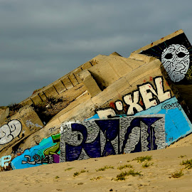 Old abandoned german bunker at Cap Ferret. by Lorraine Bettex - Drawing All Drawing