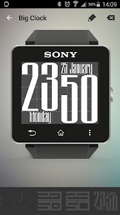 Big Clock for SmartWatch 2 - screenshot