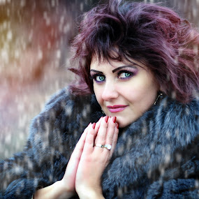 pray with me by Alexandru Tache - People Portraits of Women ( lights, abstract, fashion, colorful, jungle, snow, street, pray, day, nikon, photography, eyes )