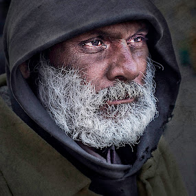 in the dark! by Rajarshi Mitra - People Street & Candids ( face, old, street, poor, beard, candid, senior citizen, man )