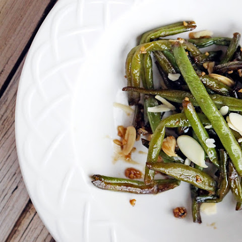 Sauteed Asian Green Beans with Honey & Garlic Sauce