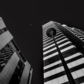 Ismira hoter by Grigoris Koulouriotis - Buildings & Architecture Office Buildings & Hotels ( center, urban, building, sky, black and white, under, turkey, izmir, city, hotels )