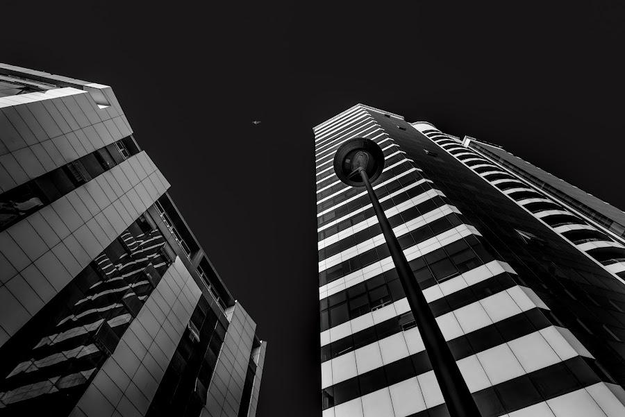 Ismira hoter by Grigoris Koulouriotis - Buildings & Architecture Office Buildings & Hotels ( center, urban, building, sky, black and white, under, turkey, izmir, city, hotels,  )
