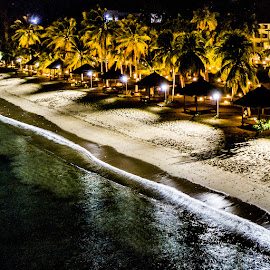 Night at beautiful beach by Irfan Firdaus - Landscapes Beaches ( travel photography, nature, indonesia, low light, night photography )