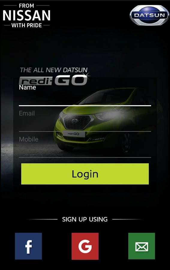 Datsun India Screenshot