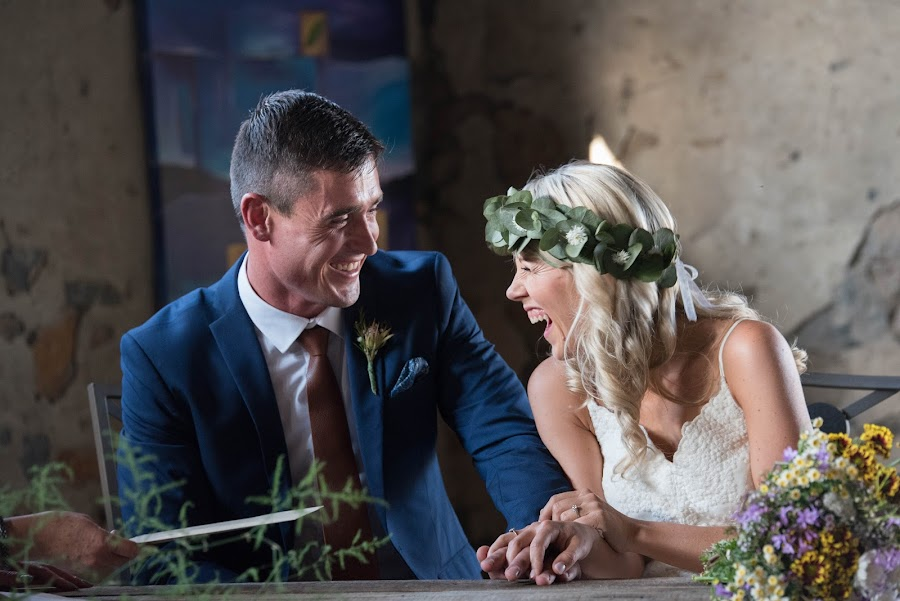 Love is laughing with you by Junita Stroh - Wedding Bride & Groom ( laughing, wedding photography, wedding, south africa, wedding dress, wedding photographer, bride and groom, flowers, bride, groom )