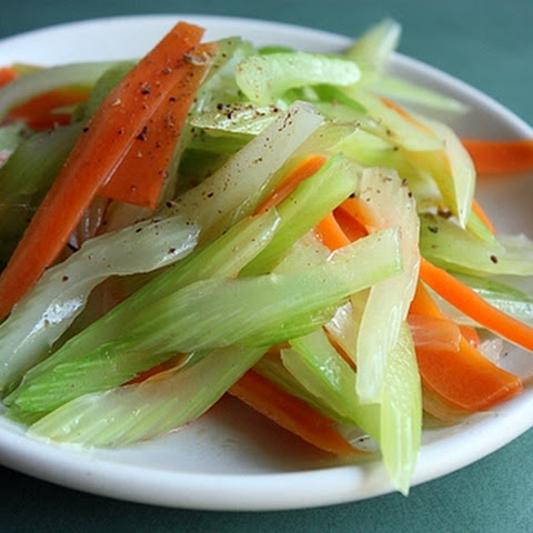 Celery and Carrot Tossed with Sesame