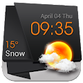 3D Clock Current Weather Free APK for Bluestacks