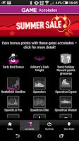Screenshot of GAME Reward Mobile App