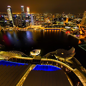 Singapore Skyline by Rafael Uy - City,  Street & Park  Skylines ( cityscapes, landmark, pwc82, marina bay sands, night, skypark, architecture, travel, nightscapes, singapore, lights,  )