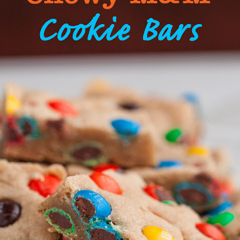 Chewy M&M Cookie Bars (+ $50 Target Giveaway)
