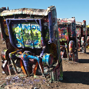 Amarillo Cadillacs by Neal Kulick - Artistic Objects Other Objects ( art cadillacs )