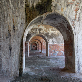 Cannon Row by Jamie Boyce - Buildings & Architecture Public & Historical ( passageway, structure, forts, brickwork, fort, alabama, historical places,  )