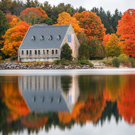 Old Stone Church by David Long - Buildings & Architecture Public & Historical ( old stone church, west boylston, wachusett )