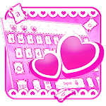 Cute Pink Love Keyboard Icon