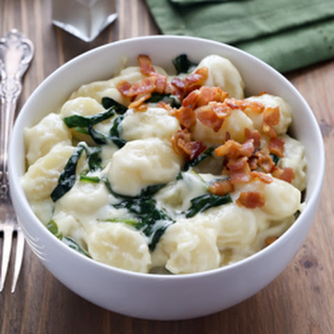 Gnocchi with Spinach in Parmesan Cream Sauce