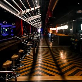 Bowlmor Cupertino, California by Rachel Santellano - Digital Art Places ( bowl, hdri, hdr, san jose, california, fine art photography, rachel santellano, fine art, bowling, cupertino, bowlmor )