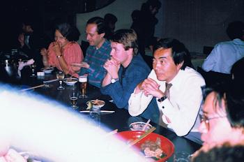 With Esa Pekka Salonen, Tokyo, 1988 (2)