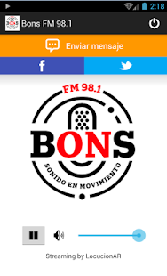 Bons FM - screenshot