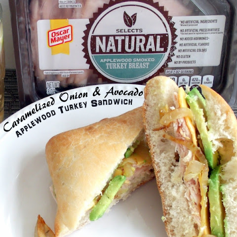 Caramelized Onion & Avocado Applewood Smoke Turkey Sandwich