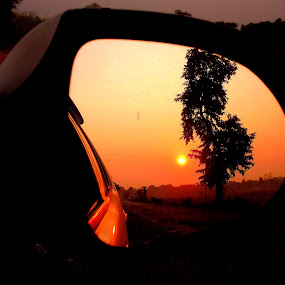 Sunset by Jhilam Deb - Landscapes Sunsets & Sunrises ( sunrises, red, looking glass, birpara, sunset,  )