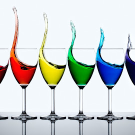 by Francisco Arroyo Valls - Artistic Objects Glass ( champagne glasses, cups, staff favorites, liquids, the rainbow )
