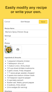 Chefnote Recipe & Grocery List - screenshot