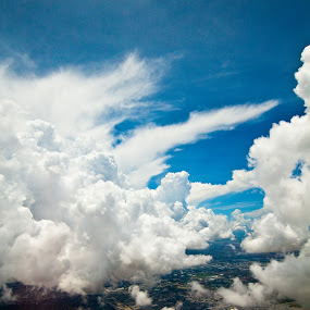 Clouds by Ralph Sobanski - Landscapes Cloud Formations ( clouds, sky, blue, formations, vibrant, skies, arial )