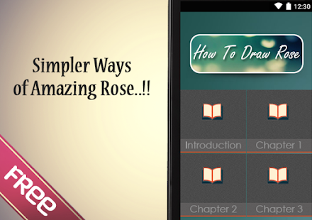 How To Draw A Rose - screenshot