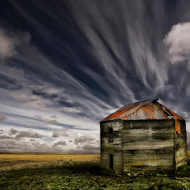 Barn by Þorsteinn H. Ingibergsson - Buildings & Architecture Decaying & Abandoned ( clouds, iceland, sky, barn, nature, structor, landscape, abandoned )