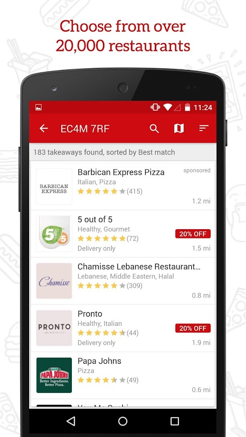 JUST EAT - Takeaway delivery Screenshot 1