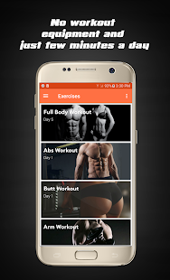 Home Workouts - Fit Challenge Fitness app screenshot 1 for Android