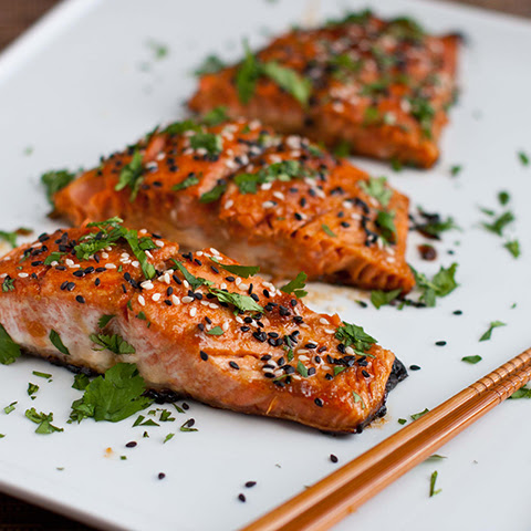 Honey and Wasabi Salmon