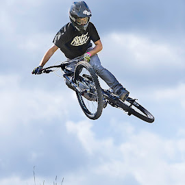 Dirt jump whip by Nick Moor - Sports & Fitness Cycling ( downhill bike, mtb, mountain bike, dirt jump, whip, jump )