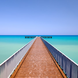 Sea colours by Theodoros Theodorou - Buildings & Architecture Bridges & Suspended Structures ( pier, seascape, blue sea, x-t1, 16mm f1.4 r wr, fujinon, limni, fujifilm, cyprus, x photographer, sea )
