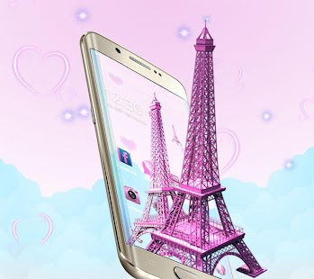 3D Pink Paris Eiffel Tower Für PC Windows & Mac