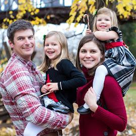 Family Portrait by Mike Lesnick - People Family ( mike lesnick, lesnick photo, nc, family, family portraits, bridge, kids, old salem village, erin lesnick, portrait )