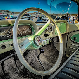 Chevy Truck Interior by Ron Meyers - Transportation Automobiles