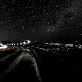 Speed of Light by Tom Davison - Abstract Light Painting ( landscapepro, time, red, sky, black and white, timelapse, stars, night, blur,  )