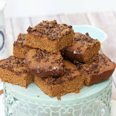 Chocolate Gingerbread Blondies #SundaySupper
