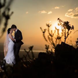 Sunset by Lood Goosen (LWG Photo) - Wedding Bride & Groom ( wedding photography, mountain, wedding photographers, brides, sun, love, wedding, weddings, wedding day, sunset, wedding photographer, bride and groom, bride, groom, bride groom )