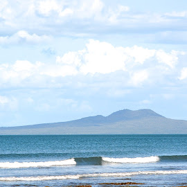 rangi by Rachel Rachel - Landscapes Beaches ( mountain, volcano, waves, sea, view )