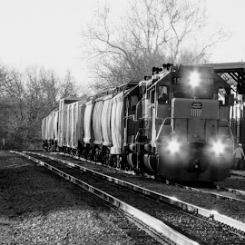 Local Work by Rick Covert - Transportation Trains ( railroad, work, locomotive, arkansas, railroad tracks, arkansas photographer, black and white, trains )
