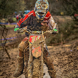never give up  !!  by Dragan Rakocevic - Sports & Fitness Motorsports ( 10, two wheels, fox, red, mud, motocross, sport, competition )