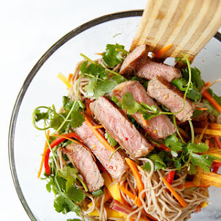 Soba Noodle Steak Salad